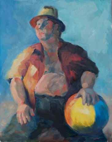 """""""Beachy Attitude."""" 14x11, oil on linen. $250. Contact artist."""