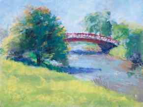 "SOLD. ""Belle Isle Bridge #1,"" 9x12, pastel on paper. #belleisle #puremichigan"