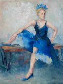 """Blue Ballerina."" 16x12, oil on linen. $175."