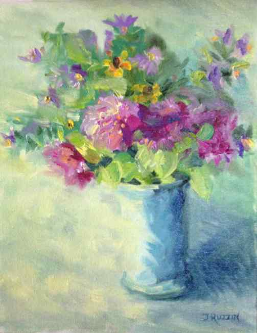 """SOLD. """"From My Garden,"""" 10x8, oil on canvas."""
