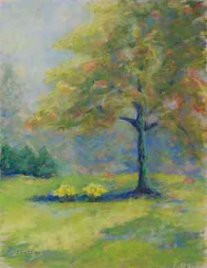 "SOLD. ""The Loving Tree."" 12x9, pastel on paper. Tree in Mt. Clemens, MI."