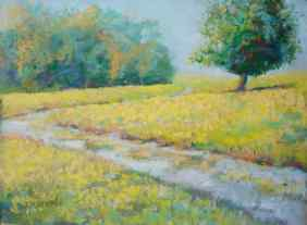 """Path to Lighthouse,"" 9x12, pastel on paper. Belle Isle, Detroit. $245. Contact the artist. #puremichigan"