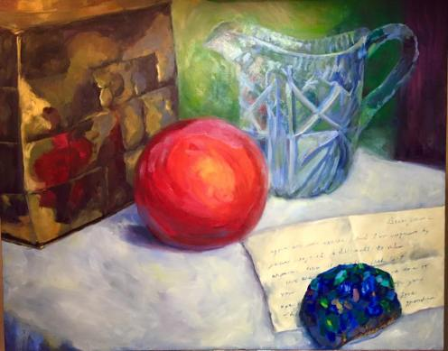 The Things She Left Me, 24x30, oil on canvas. $395. Contact the artist.