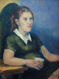 """White Collar,"" 16x12, oil on canvas. $275."