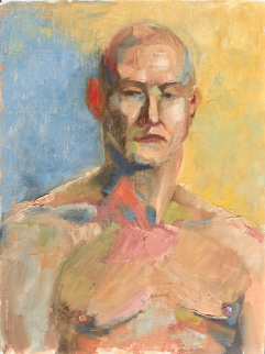 Modernist Male Head Study. 12x16, oil on linen.