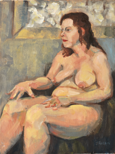 ON HOLD. Nude in Front of Window, 12x16, oil on linen. Currently at a show.
