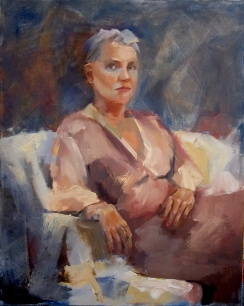 """""""I Don't Think So,"""" 20x16, oil on canvas. $495."""