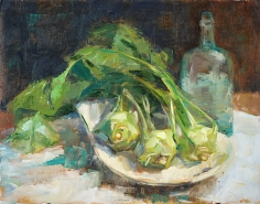 "SOLD. ""Kohlrabi."" Exhibition history: Juried into Scarab Club Gold Show."