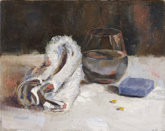 """""""Stress Antidote,"""" 8x10, oil on linen. 9x12, oil on canvas. Currently for sale at blacksaltmarket.com."""