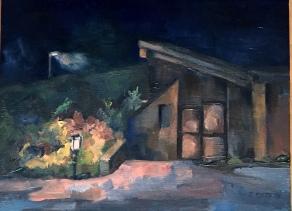 """Pierce Cedar Creek Institute,"" a nature center, smack dab in the center of Pure Michigan. 9x12, oil on panel. $275."