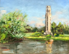 SOLD. Carillon Tower 2019. 14x11, oil on panel. Painted mostly plein air, tweaked in studio.