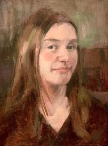 """""""Fourteen,"""" Oil on canvas, 16x12, NFS"""