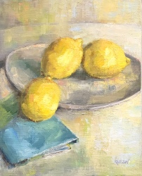 """When Life Gives You Lemons,"" 12x9, oil on linen panel."