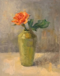 """""""Coral Rose,"""" 8x10, oil on linen panel."""