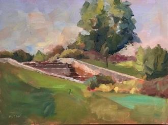 """Quarton Lake South."" ""Quarton Lake South,"" 9x12, oil on linen. Painted plein air."