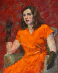 "ON HOLD FOR EXHIBITION. ""Diva,"" 30x24, oil on canvas."
